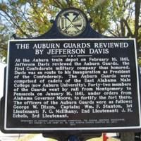 Auburn Guards Review Historic Marker