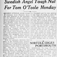 Swedish Angel Tough Nut For Tom O'Toole Monday