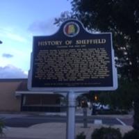 History of Sheffield. Alabama Historic Marker