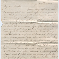 2005.36.179: Lacy W. Watts to brother, 1856 August 9