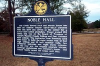 Noble Hall Historical Marker